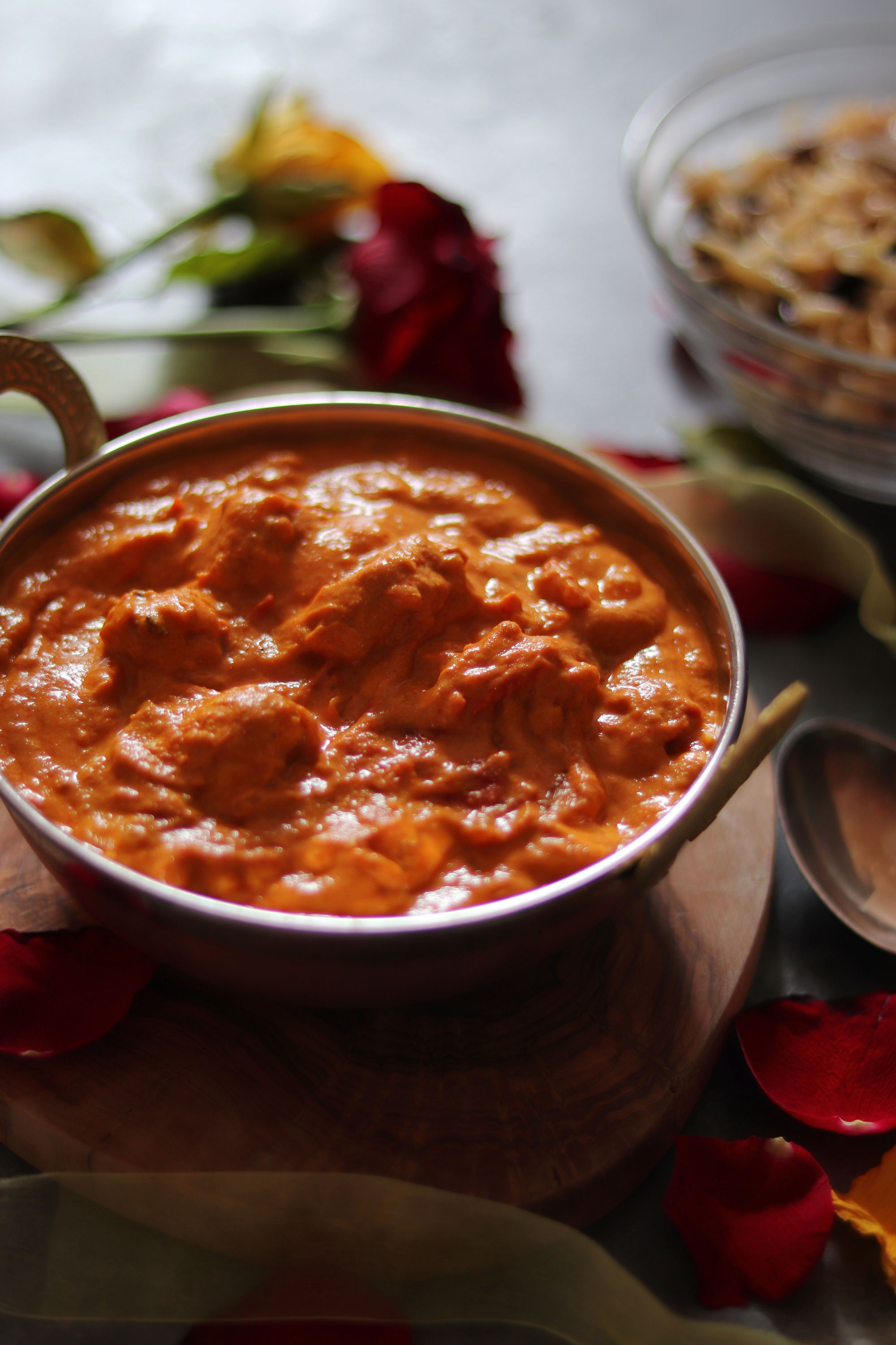Chicken Curry With Creamy Cashew Paste Diary Free Soulful And Healthy