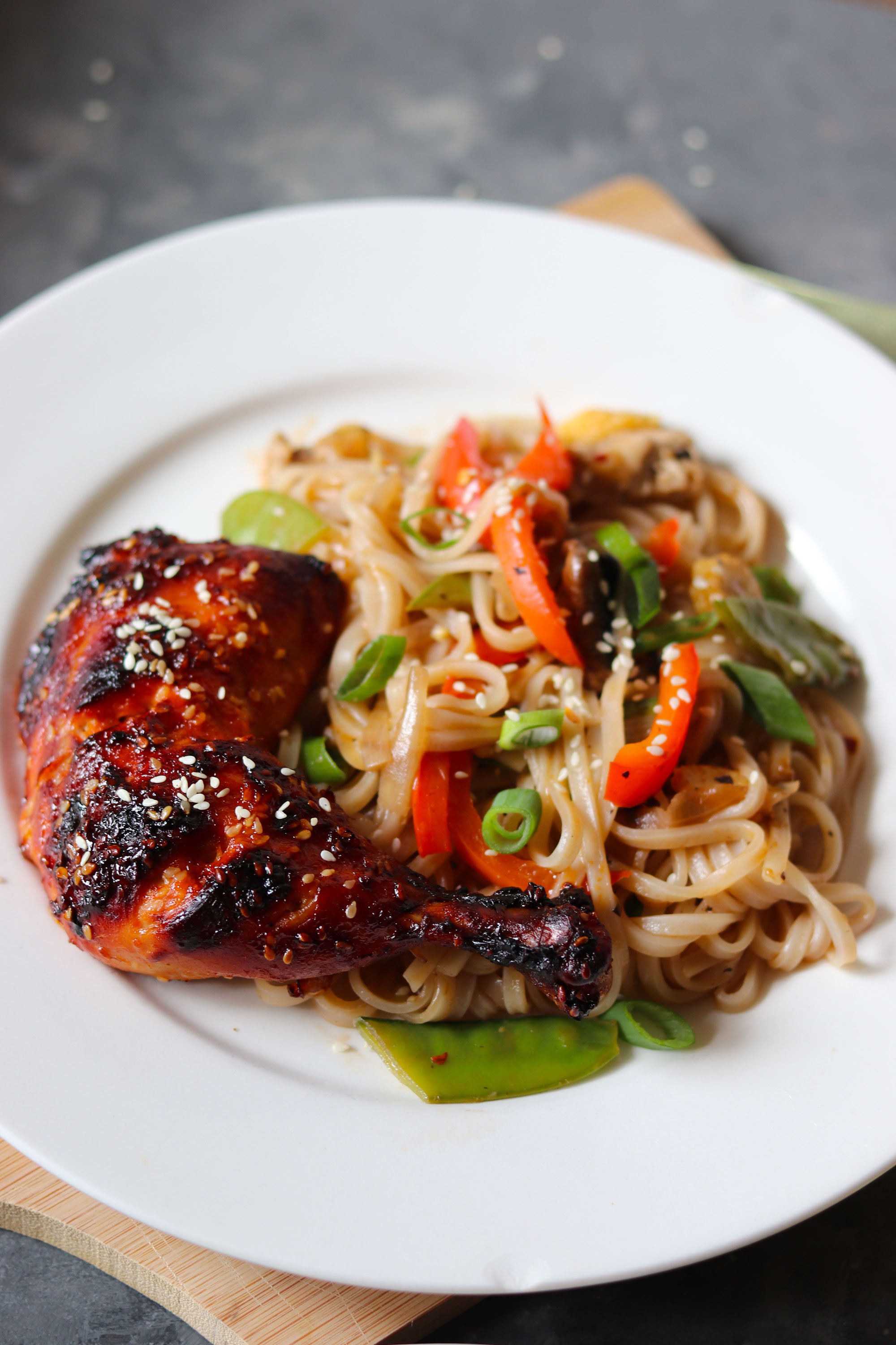 Sriracha and honey grilled chicken
