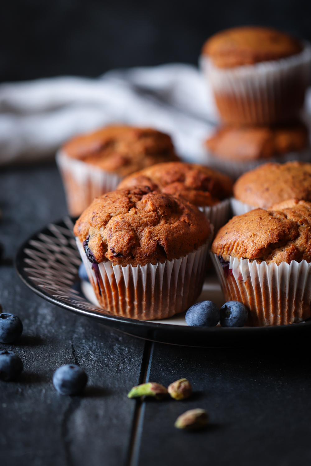 ​​​​​​Mixed Berries and pistachios muffins