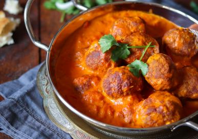 Masala Lamb meatballs creamy curry